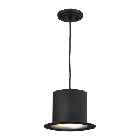 ELK Lighting 17195/1 Chapeau Collection Matte Black Finish - PeazzLighting