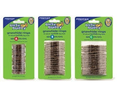 PetSafe 17585 Busy Buddy Gnawhide Rings Refill, Medium - Peazz.com