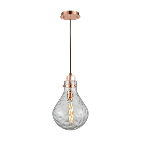 ELK Lighting 17661/1 Dewdrop Collection Polished Copper Finish - PeazzLighting