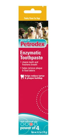 Sergeant's 18329 Petrodex Enzymatic Toothpaste For Dogs Poultry, 6.2 oz