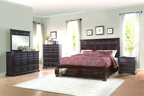 Homelegance 1832-1 Cranfills Collection Color Warm Distressed Cherry - Peazz.com