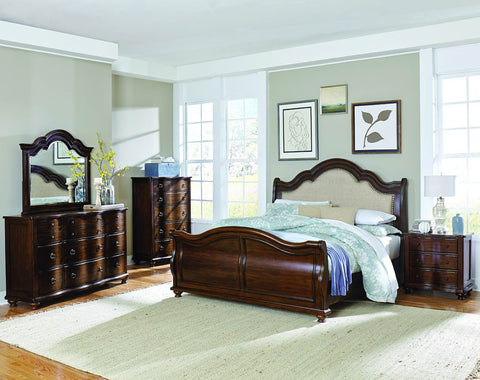 Homelegance 1837-4 Davina Collection Color Brown Cherry - Peazz.com