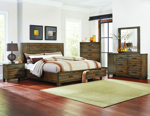 Homelegance 1877-1 Brazoria Collection Color Glazed Weathered Oak - Peazz.com