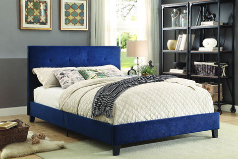 Homelegance 1880KBUE-1CK Brice Collection Color Blue 100% Polyester - Peazz.com - 1