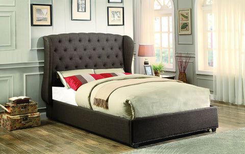 Homelegance 1894KN-1EK Chardon Collection Color Dark Grey 100% Polyester - Peazz.com - 1