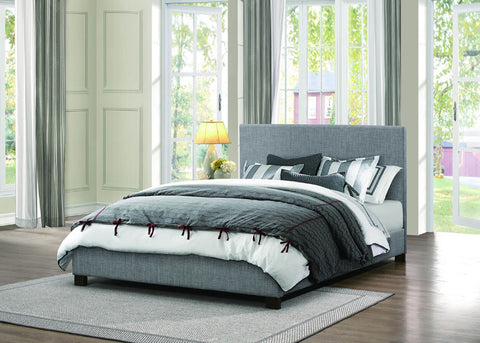 Homelegance 1896KN-1CK Chasin Collection Color Grey 100% Polyester And Black Bi-Cast Vinyl - Peazz.com
