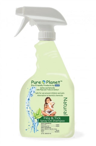 Davis 19010 Davis Pure Planet Flea & Tick SprayOn Shampoo, 22 oz - Peazz.com