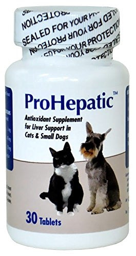 Aho 19089 Prohepatic Liver Support Cats & Small Dogs, 30 Tablets