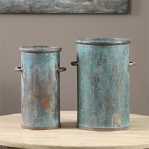 Uttermost Barnum Tarnished Copper Cans, S/2 (19980) - UTMDirect