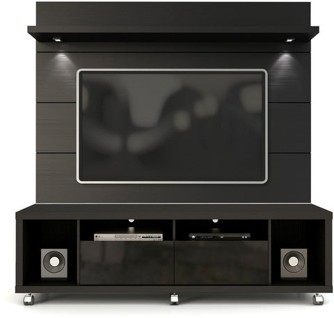 Manhattan Comfort 2-1541382253 Cabrini Collection Black Gloss and Black Matte Finish - Peazz.com - 1