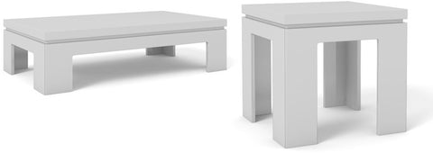 Manhattan Comfort 2-8465284752 Bridge Collection White Gloss Finish - Peazz.com - 1