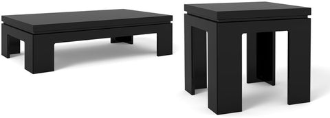 Manhattan Comfort 2-8465384753 Bridge Collection Black Gloss Finish - Peazz.com - 1
