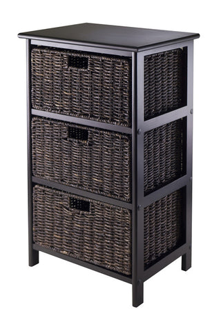 Winsome Wood 20317 Omaha Storage Rack with 3 Foldable Baskets - Peazz.com