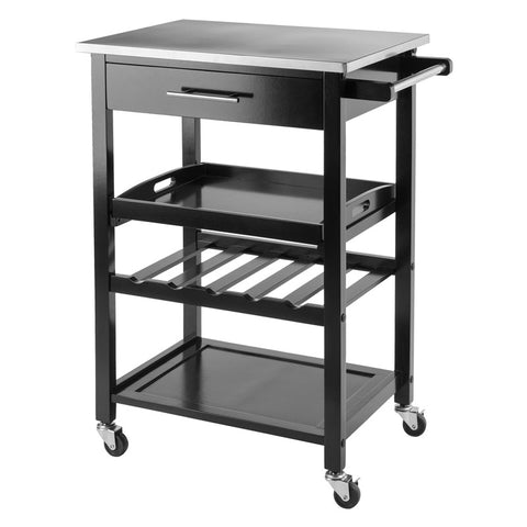 Winsome Wood 20326 Anthony Kitchen Cart Stainless Steel - Peazz.com - 1