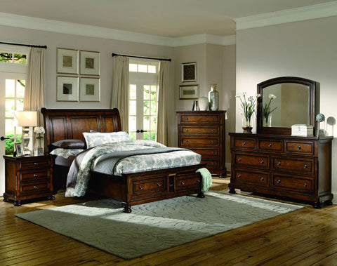 Homelegance 2159F-1 Cumberland Collection Color Rich Medium Brown - Peazz.com