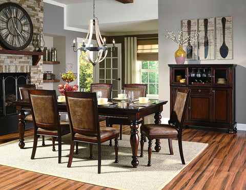 Homelegance 2159-88 Cumberland Collection Color Rich Medium Brown - Peazz.com