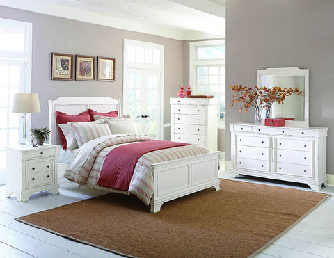 Homelegance 2223KW-1CK Derby Run Collection Color White Sand Through - Peazz.com