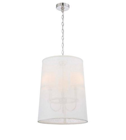 Crystorama 2293-PN Libby Langdon for Culver 3 Lt Polished Nickel Chand - PeazzLighting