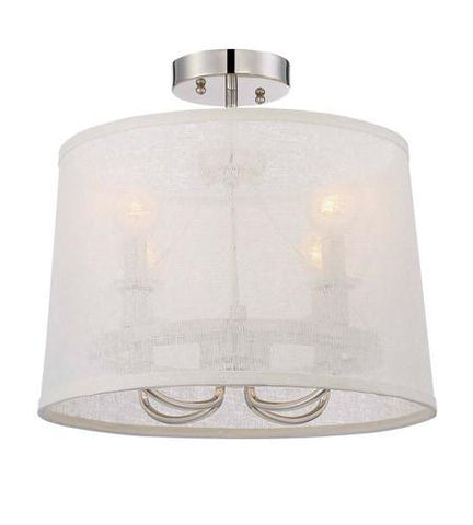 Crystorama 2294-PN_CEILING Libby Langdon for Culver 4 Lt Polished Nickel Ceiling Mount - PeazzLighting