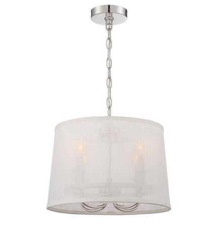 Crystorama 2294-PN Libby Langdon for Culver 4 Lt Polished Nickel Chand - PeazzLighting