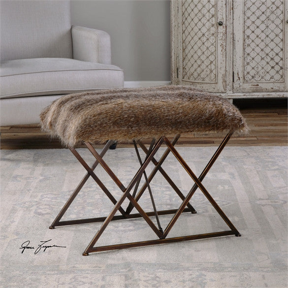 Uttermost Brannen Plush Small Bench (23277)