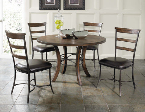 Hillsdale 4671DTBWC5 Cameron 5-Piece Round Wood Base Dining Set w/Ladder Back Chairs