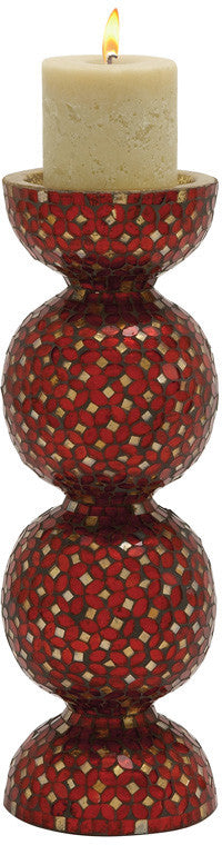 "Bayden Hill Metal Mosaic Candle Holder 6""W, 19""H"