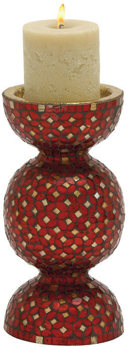"Bayden Hill Metal Mosaic Candle Holder 6""W, 12""H"