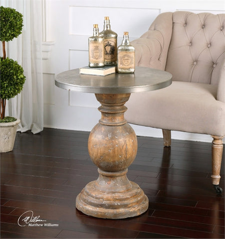 Uttermost Blythe Wooden Accent Table (24491) - UTMDirect