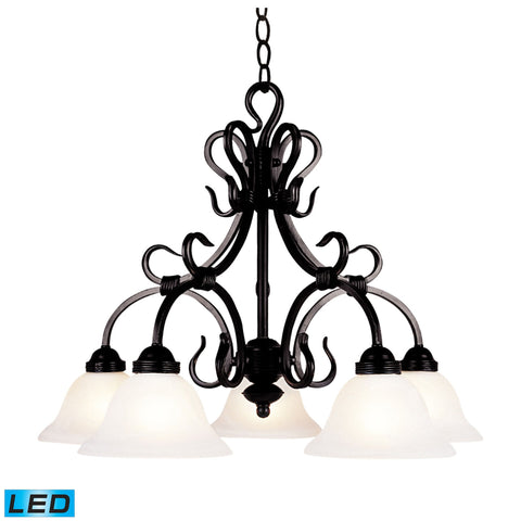 ELK Lighting 245-BK-LED Buckingham Collection Matte Black Finish - PeazzLighting