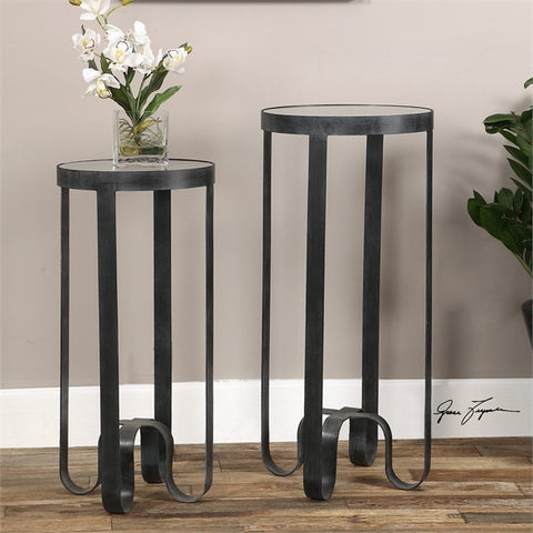 Uttermost Arusi Strapped Iron Accent Tables, S/2 (24598) - UTMDirect