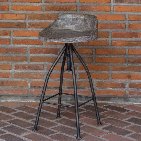 Uttermost Kairu Wooden Bar Stool (25726) - UTMDirect