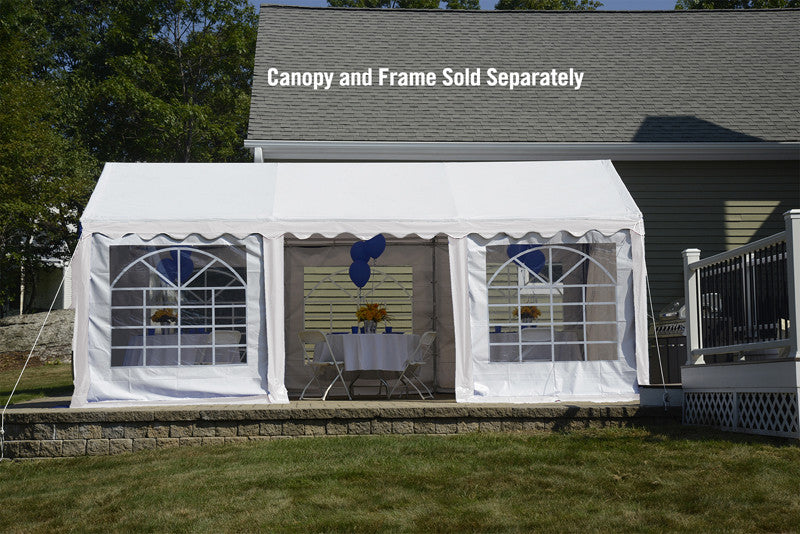 ShelterLogic 25897 10'X20'/ 3X6M Party Tent White Enclosure Kit With Windows