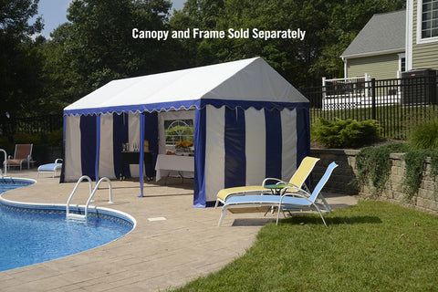ShelterLogic 25898 10'X20'/ 3X6M Party Tent Blue/White Enclosure Kit With Windows - Peazz.com