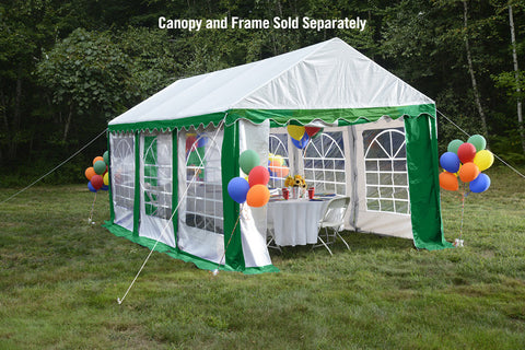 ShelterLogic 25899 10'X20'/ 3X6M Party Tent Green/White Enclosure Kit With Windows - Peazz.com