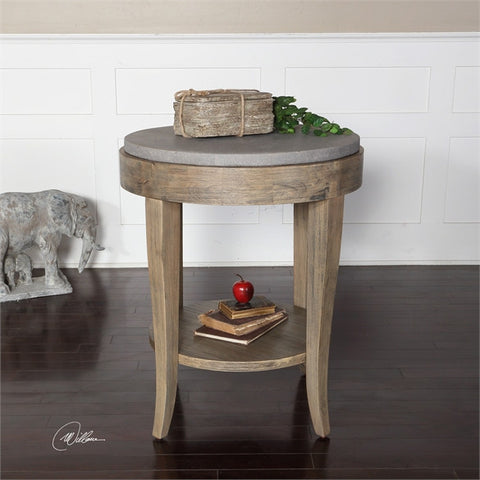 Uttermost Deka Round Accent Table (25909) - UTMDirect