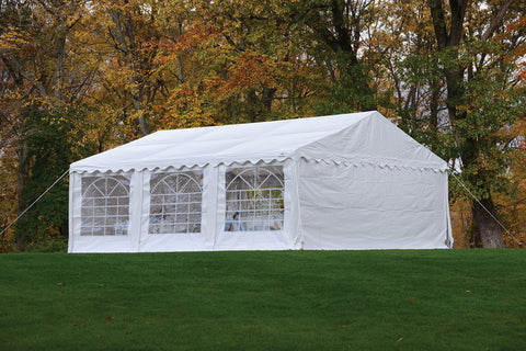 ShelterLogic 25927 20'X20'/ 6X6M Party Tent White Enclosure Kit With Windows - Peazz.com - 1