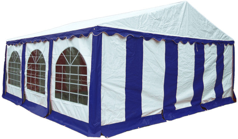 ShelterLogic 25928 20'X20'/ 6X6M Party Tent Blue/White Enclosure Kit With Windows