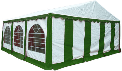 ShelterLogic 25929 20'X20'/ 6X6M Party Tent Green/White Enclosure Kit With Windows - Peazz.com - 1