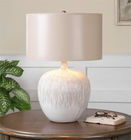 Uttermost Georgios Textured Ceramic Lamp (26194-1) - UTMDirect