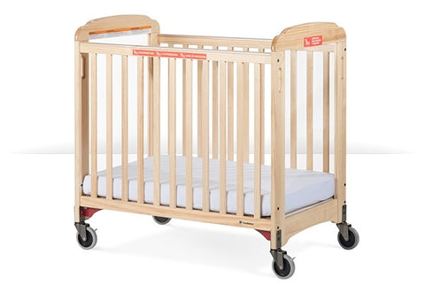 Foundations First Responder Evacuation Crib Fixed-Side, Clearview,  includes evacuation frame. - Natural - 2632047