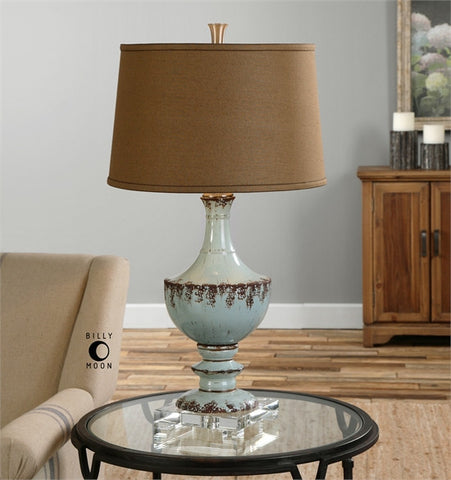 Uttermost Molara Aged Blue Table Lamp (26600) - UTMDirect