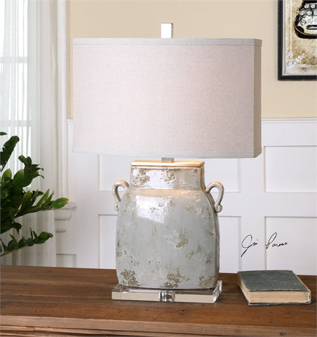 Uttermost Melizzano Ivory-Gray Table Lamp (26613-1) - UTMDirect