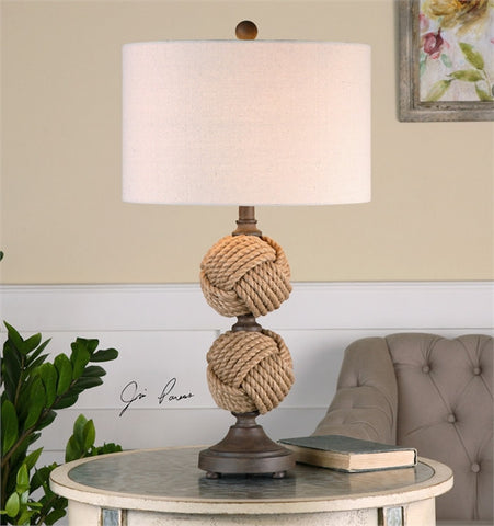 Uttermost Higgins Rope Spheres Table Lamp (26615-1) - UTMDirect