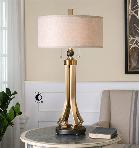 Uttermost Selvino Brushed Brass Table Lamp (26631-1) - UTMDirect