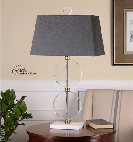 Uttermost Telesino Crystal Disk Table Lamp (26646) - UTMDirect