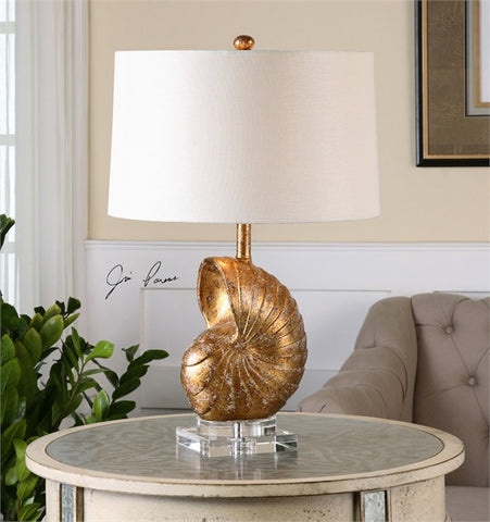 Uttermost Concha Gold Leaf Table Lamp (26654-1) - UTMDirect