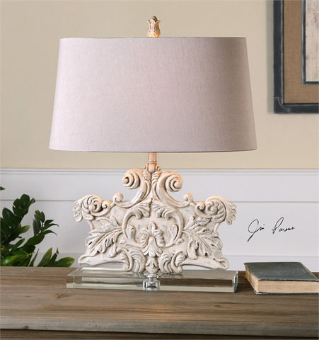 Uttermost Schiavoni Ivory Stone Table Lamp (26658) - UTMDirect