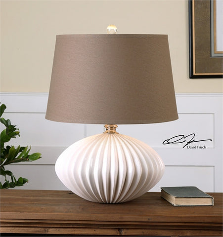 Uttermost Bariano Gloss White Table Lamp (26660) - UTMDirect