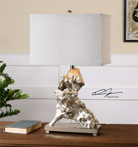 Uttermost Rilletta Metallic Silver Table Lamp (26662-1) - UTMDirect